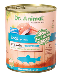 Dr. Animal konz Losos 850g